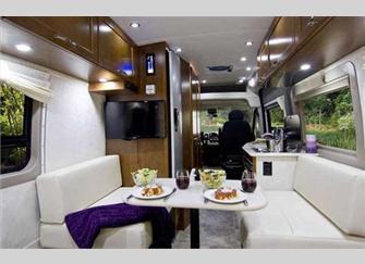 Class B Travel Van Interior