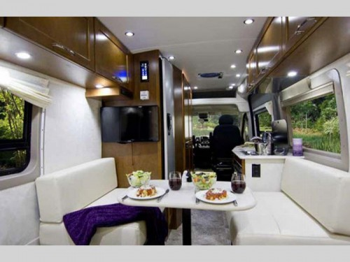 Minimalist Design Class B Motorhomes Interior